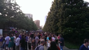 Lest you think I am biased, the food truck line was ridiculously long and it was HOT!